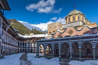 49747879 - amazing panorama of rila monastery, kyustendil region, bulgaria